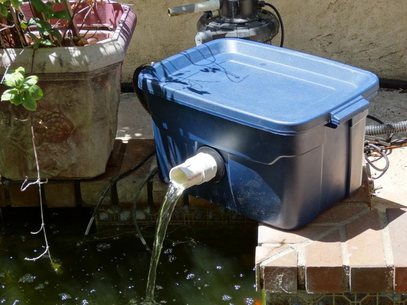 Fishpond filter trevor 39 s workshop for Outdoor fish pond filter